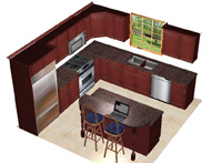 10x12wislandgeorgesma 10 X 12 Kitchen Remodel Kitchen Remodeling On 12 X 10 Kitchen Floor Plans