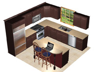 Luxury kitchen designs kitchen backsplash design for Kitchen design 14 x 12
