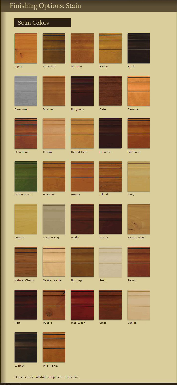 Colors of kitchen cabinet stain for Kitchen cabinets colours